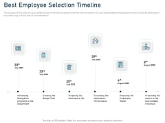Employee Recognition Award Best Employee Selection Timeline Ppt PowerPoint Presentation Inspiration Topics PDF