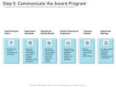 Employee Recognition Award Step 5 Communicate The Award Program Ppt PowerPoint Presentation Icon Format PDF