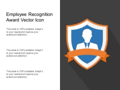 Employee Recognition Award Vector Icon Ppt PowerPoint Presentation Pictures Template PDF