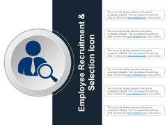 Employee Recruitment And Selection Icon Ppt PowerPoint Presentation Infographics Inspiration