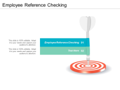 Employee Reference Checking Ppt PowerPoint Presentation Gallery Designs Cpb
