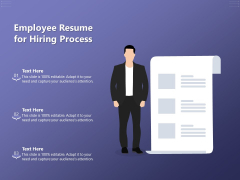 Employee Resume For Hiring Process Ppt PowerPoint Presentation Outline Portrait PDF