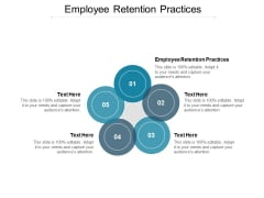 Employee Retention Practices Ppt PowerPoint Presentation Icon Portfolio Cpb