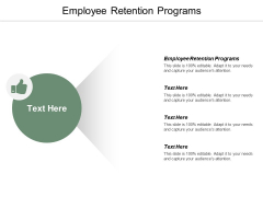 Employee Retention Programs Ppt PowerPoint Presentation Visual Aids Gallery Cpb