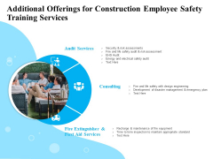 Employee Safety Health Training Program Additional Offerings For Construction Employee Services Structure PDF