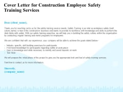 Employee Safety Health Training Program Cover Letter For Construction Employee Training Services Portrait PDF