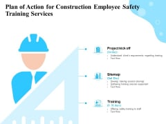 Employee Safety Health Training Program Plan Of Action For Construction Employee Safety Services Rules PDF