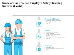 Employee Safety Health Training Program Scope Of Construction Employee Safety Training Services Template PDF