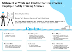 Employee Safety Health Training Program Statement Of Work And Contract For Construction Services Formats PDF