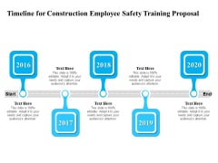 Employee Safety Health Training Program Timeline For Construction Employee Safety Proposal Professional PDF