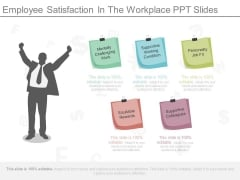 Employee Satisfaction In The Workplace Ppt Slides