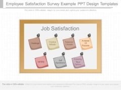 Employee Satisfaction Survey Example Ppt Design Templates
