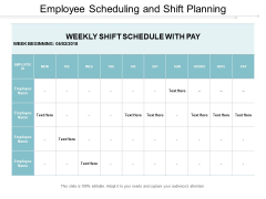 Employee Scheduling And Shift Planning Ppt PowerPoint Presentation Gallery Sample