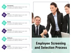 Employee Screening And Selection Process Ppt PowerPoint Presentation Infographic Template Format PDF