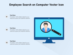 Employee Search On Computer Vector Icon Ppt PowerPoint Presentation File Outline PDF