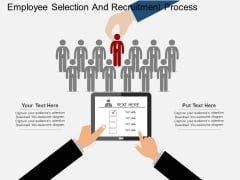 Employee Selection And Recruitment Process Powerpoint Template