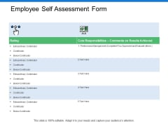 Employee Self Assessment Form Ppt PowerPoint Presentation Slides Gridlines