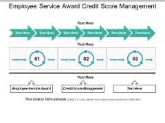 Employee Service Award Credit Score Management Ppt PowerPoint Presentation Layouts Show