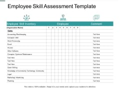 Employee Skill Assessment Template Accounting Ppt PowerPoint Presentation Model File Formats