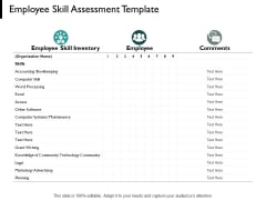 Employee Skill Assessment Template Knowledge Of Community Ppt PowerPoint Presentation Portfolio Slide Download