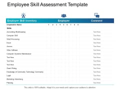 Employee Skill Assessment Template Maintenance Ppt PowerPoint Presentation Ideas Outfit