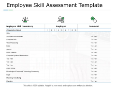 Employee Skill Assessment Template Planning Ppt PowerPoint Presentation Infographics Clipart Images