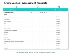 Employee Skill Assessment Template Ppt PowerPoint Presentation Ideas Graphics Design