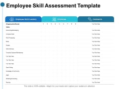 Employee Skill Assessment Template Ppt PowerPoint Presentation Portfolio Samples
