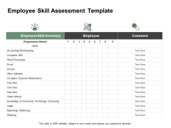 Employee Skill Assessment Template Ppt PowerPoint Presentation Styles Layouts