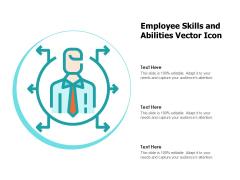 Employee Skills And Abilities Vector Icon Ppt PowerPoint Presentation Portfolio Grid PDF