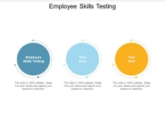 Employee Skills Testing Ppt PowerPoint Presentation Summary Background Image Cpb