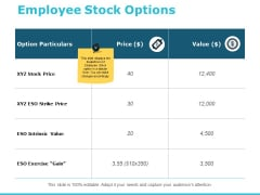 Employee Stock Options Ppt PowerPoint Presentation Ideas Backgrounds