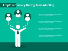 Employee Survey During Team Meeting Ppt PowerPoint Presentation Portfolio Layouts PDF