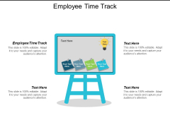 Employee Time Track Ppt Powerpoint Presentation Infographics Shapes Cpb