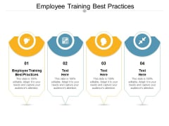 Employee Training Best Practices Ppt PowerPoint Presentation Outline Master Slide Cpb