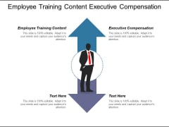 Employee Training Content Executive Compensation Ppt PowerPoint Presentation Gallery Graphic Tips