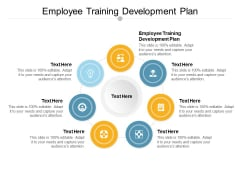 Employee Training Development Plan Ppt PowerPoint Presentation Icon Graphics Design Cpb