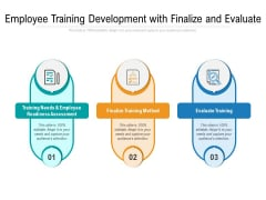 Employee Training Development With Finalize And Evaluate Ppt PowerPoint Presentation Gallery Example Introduction PDF