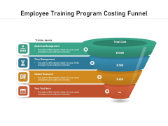 Employee Training Program Costing Funnel Ppt PowerPoint Presentation File Template PDF