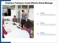 Employee Training To Create Effective Brand Message Ppt PowerPoint Presentation Pictures Slide Portrait
