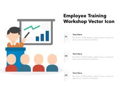Employee Training Workshop Vector Icon Ppt PowerPoint Presentation Gallery Background Designs PDF