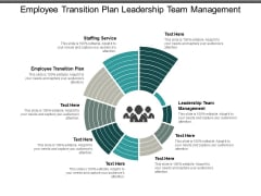Employee Transition Plan Leadership Team Management Staffing Service Ppt PowerPoint Presentation Pictures Visuals
