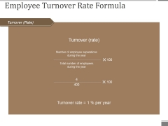 Employee Turnover Rate Formula Ppt PowerPoint Presentation Pictures Aids