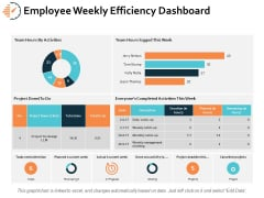 Employee Weekly Efficiency Dashboard Ppt PowerPoint Presentation Infographics Microsoft