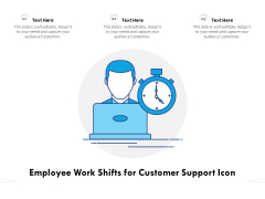 Employee Work Shifts For Customer Support Icon Ppt PowerPoint Presentation Gallery Designs Download PDF