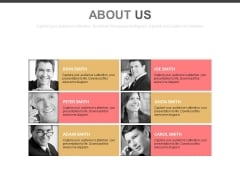 Employees Details For About Us Design Powerpoint Slides