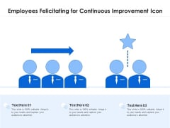 Employees Felicitating For Continuous Improvement Icon Ppt PowerPoint Presentation File Example Introduction PDF