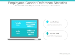 Employees Gender Deference Statistics Ppt PowerPoint Presentation Example File