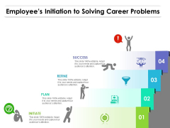 Employees Initiation To Solving Career Problems Ppt PowerPoint Presentation File Good PDF