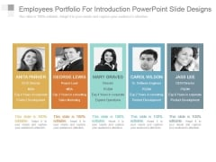 Employees Portfolio For Introduction Powerpoint Slide Designs